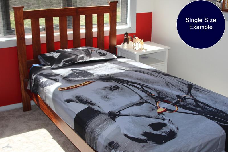 Home home and bedroom horse bedding queen horse portrait doona