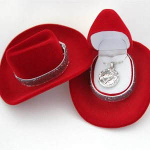 Red Cowboy Hat Horsehead Necklace