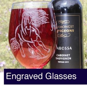 Engraved Horse Glasses