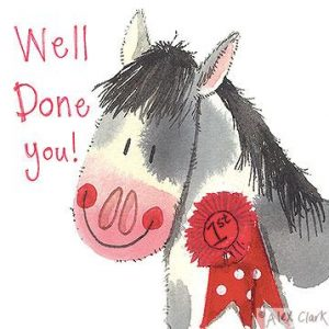 Alex Clark Well Done Horse Card