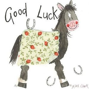 Alex Clark Good Luck Card