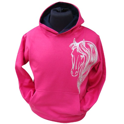 Pink Glamour Horse Hoodie| Filly and Co