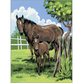 Mare and Foal Junior Paint by Numbers