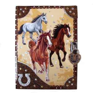 Dashing Horses Lockable Diary