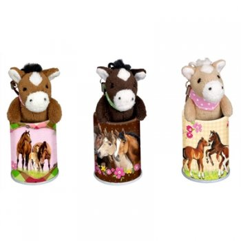 Mini Horse Pendants in a Tin