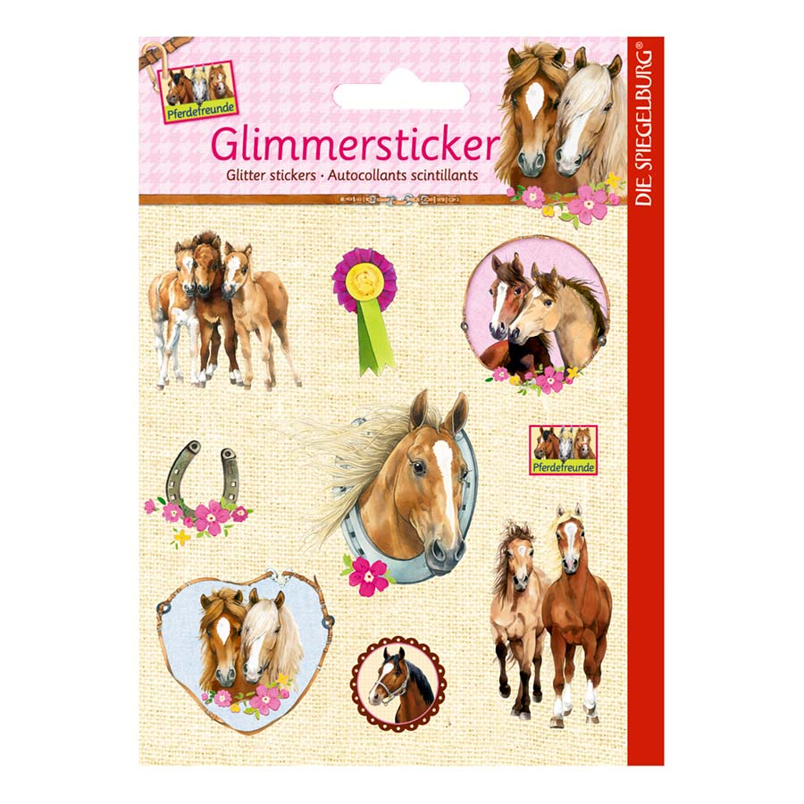 Horse Friends Glitter Stickers