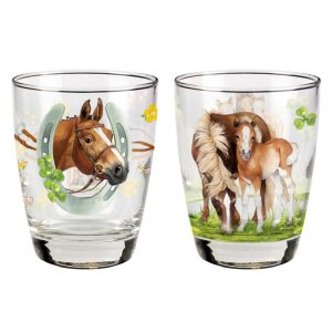 Set of 2 Horse Drinking Glasses