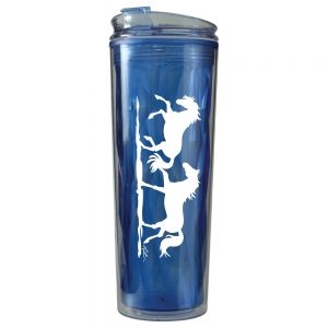 Blue Galloping Horse Travel Tumbler