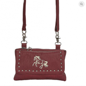 Brown Galloping Horse Handbag