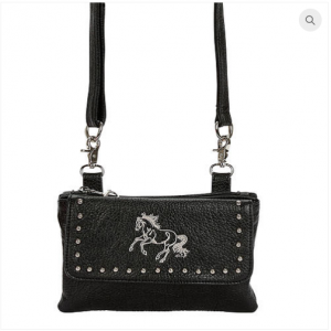 Black Galloping Horse Handbag