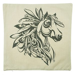 Tribal Horse Cushion