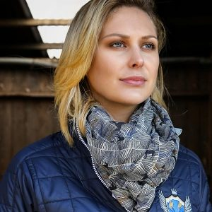 Elico Horse Scarf Blue