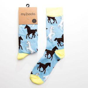 Blue Horse Socks
