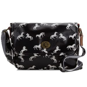 Small Horse Handbag Black