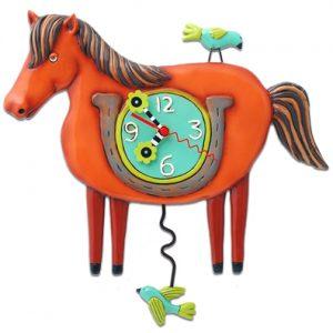 Lucky Horse Clock