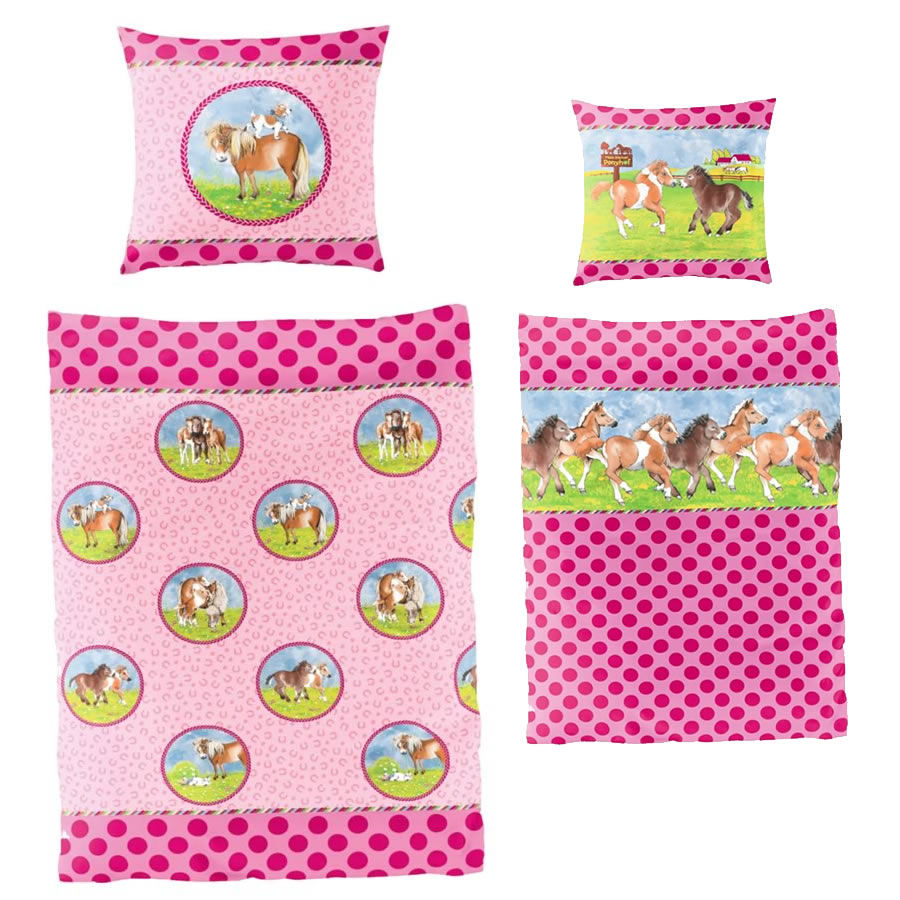 Pony Farm Reversible Bed Set