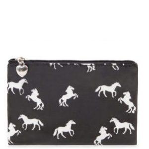 Horse Pouch Purse Black
