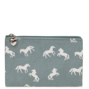 Light Blue Horse Pouch Purse
