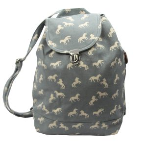blue horse canvas backpack