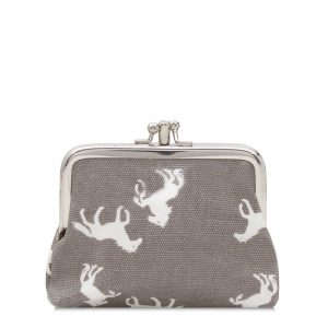 Grey Horse Clip Top Purse