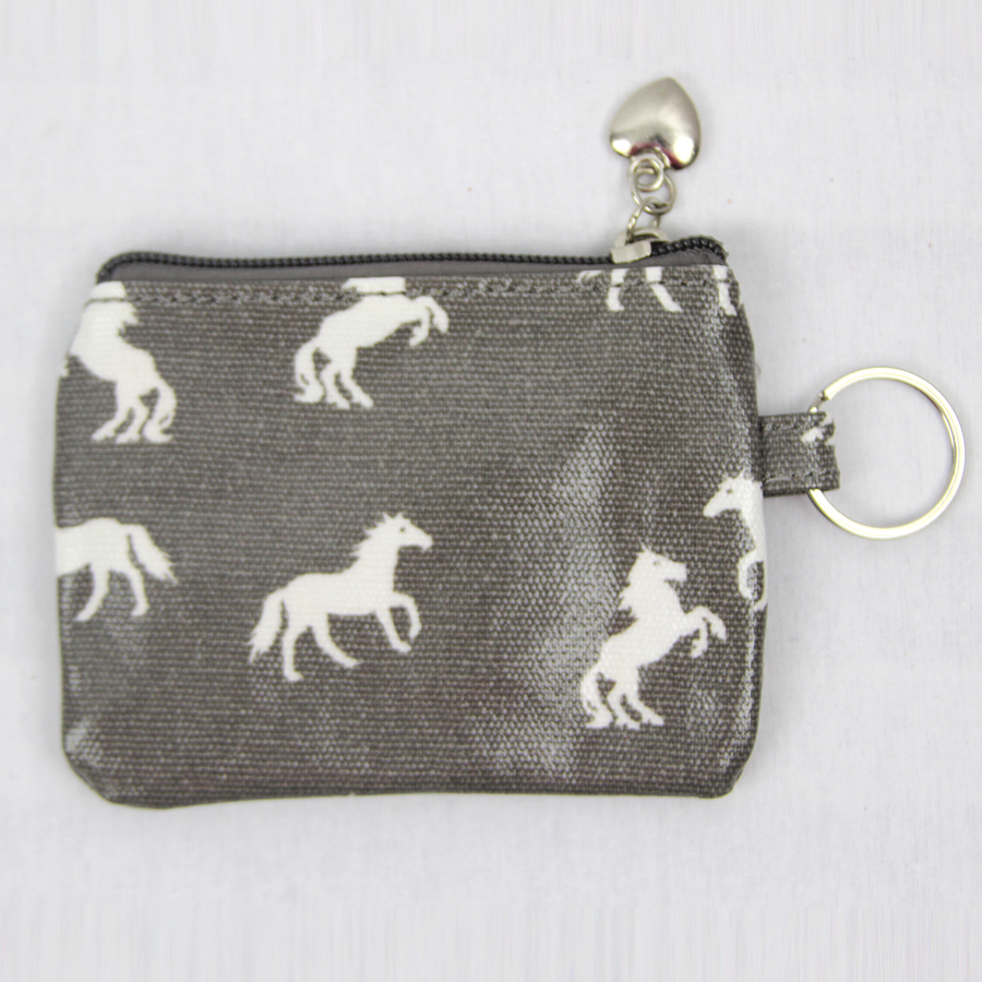 horse coin purse grey