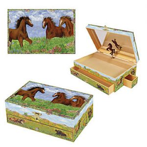 prairie horse music box