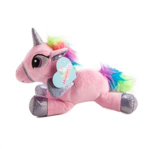 plush flying unicorn pink