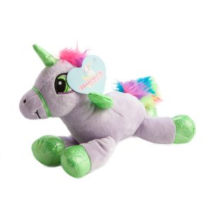 plush flying unicorn purple