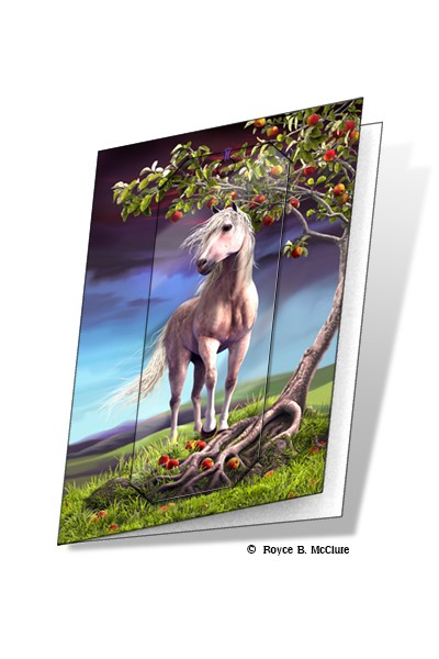 3d horse heaven card and bookmark