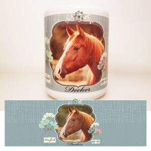 in memory horse candle