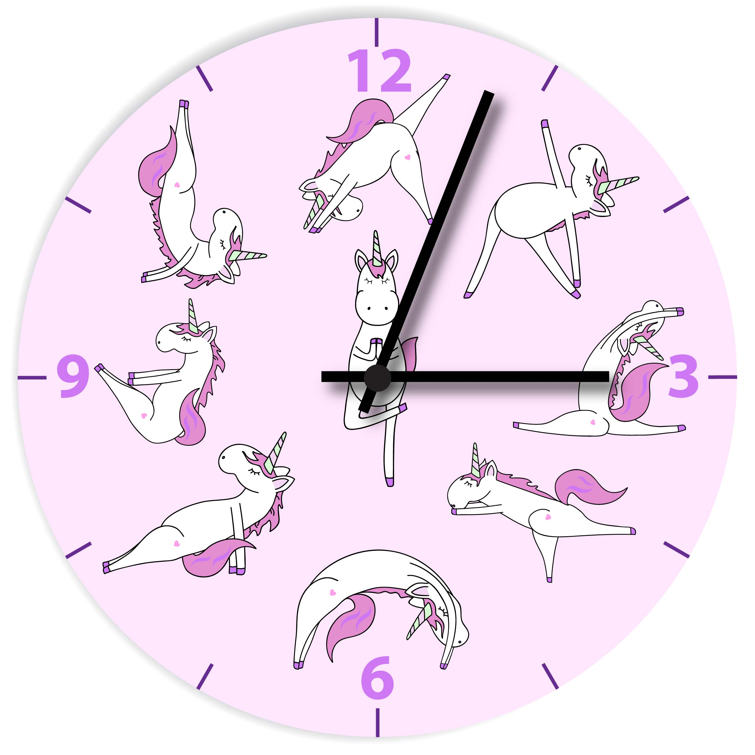 Yoga Unicorn Clock