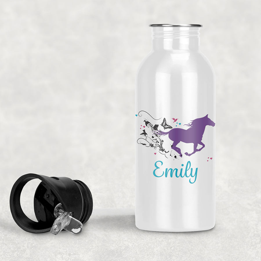 swirl horse drink bottle