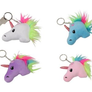 plush unicorn head keyring