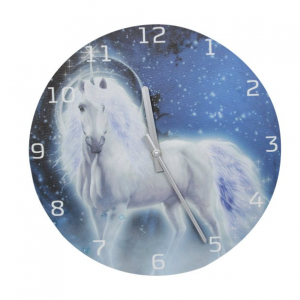 Blue Unicorn Clock