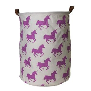 Unicorn Canvas Storage Hamper
