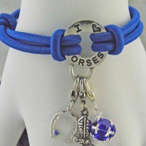 blue horse charm bracelet