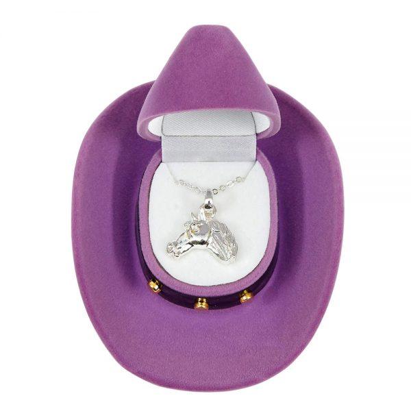 Cowboy Hat Horse Necklace