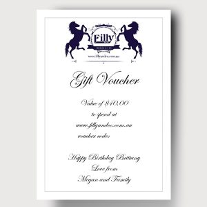 Filly and Co Gift Vouchers