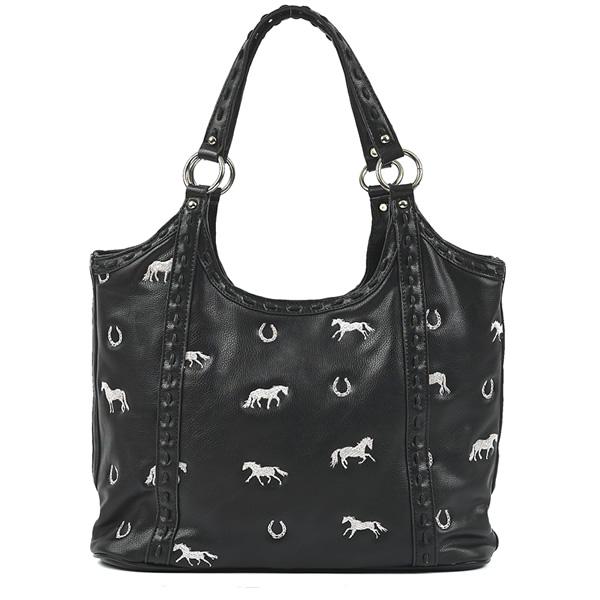 faa4b47cad5 Large Horse handbag Black   Filly and Co