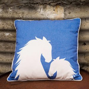 Filly Mare and Foal Horse Cushion