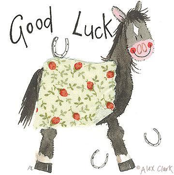 Alex Clark Good Luck Card