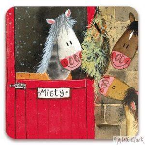 Alex Clark Hay Time Horse Coasters