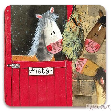 Alex Clark Hay Time Horse Coasters
