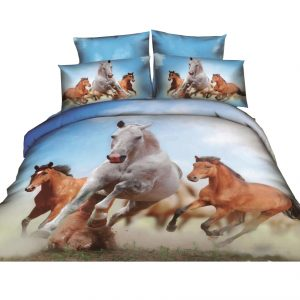 Galloping Blue Horse Doona