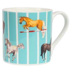 Milly Green Teal Horse Mug