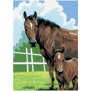 Mini Horse Paint by Numbers