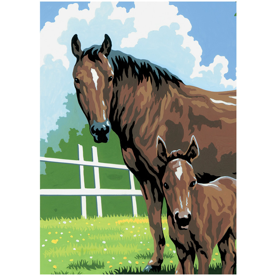 Mini Horse Paint By Numbers Kits Filly And Co