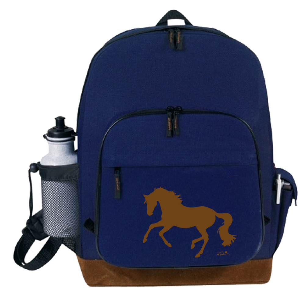 Suede Lila Horse Backpack Filly And Co