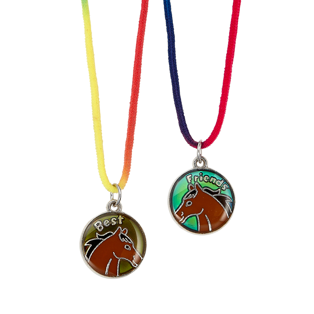 Best Friends Horse Mood Necklace   Filly and Co