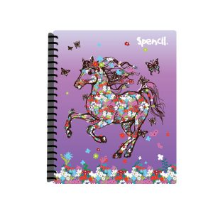 A4 Flower Horse Display Book